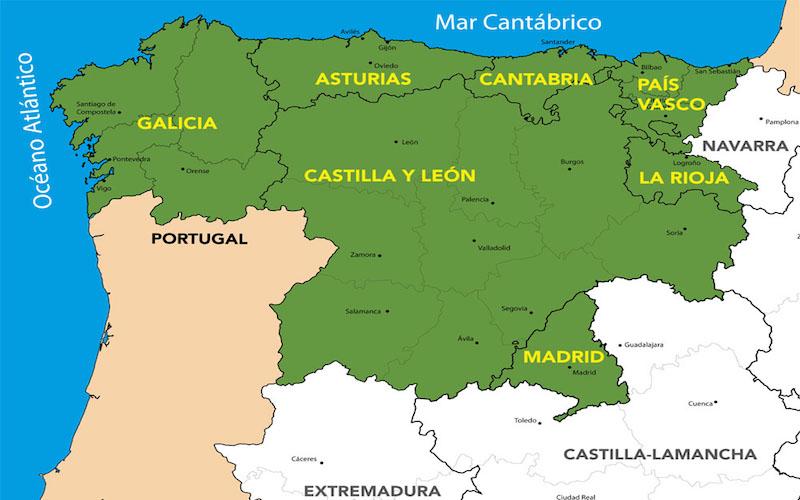 Karta Pa Spansk.Karta Over Norra Spanien Artiklar Om Norra Spanien Blog En El