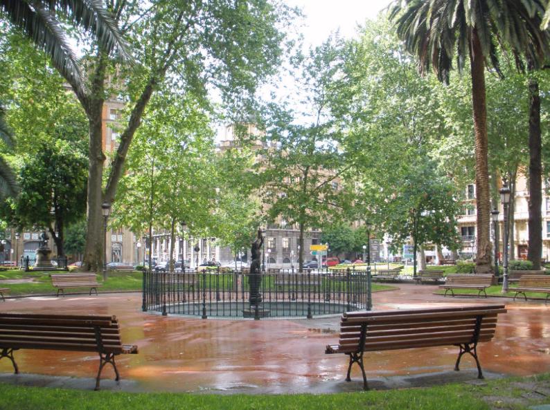 Park Los jardines de Albia Bilbao