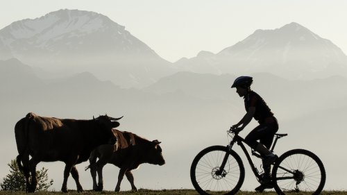 Cycle in the mountains in the North of Spain